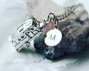 Camper Necklace, Camper Jewelry, Retro Camper Necklace, Camp Necklace, Rustic Necklace, Woodland Necklace, Fun Gift Necklace, Christmas Gift