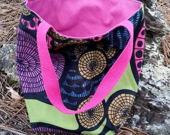 Small Fabric Tote - Reversible