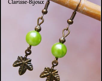 Antique bronze Earrings 11x46mm