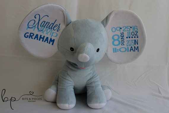 Cubbies personalized stuffed animal birth announcement