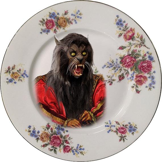 Lord Wolf - Michael Jackson - Thriller - Vintage Porcelain Plate - #0406