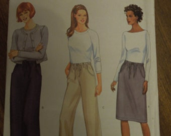Butterick 6350, sizes 12-16, UNCUT sewing patterns, craft supplies, misses, petite, skirts, pants
