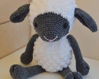 Woolly sheep / Little lamb cuddly crochet toy
