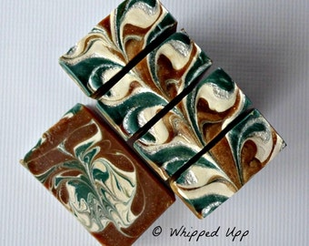 Frosty Pine Soap with colloidal oatmeal and tussah silk