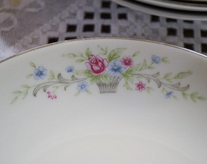 Vintage Florenteen Fantasia Soup Bowl Set of 5 Coupe Pink Floral Design Japan Panchosporch