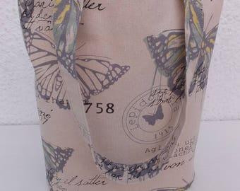 Butterfly Design Tote Bag, Bag, Shopping Bag, Reusable Bag, Market Bag, Gift for Her