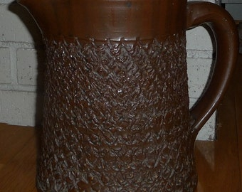 """Evans Pottery Dexter, Mo. - Large Evans Pitcher 9"""" Tall Stoneware"""