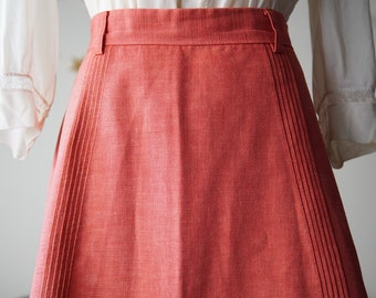 REDUCED 1960s coral pink a line skirt