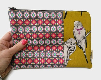 Fabric iPad Mini Case / Budgie iPad mini Cover / Tablet case / ipad mini sleeve / tablet sleeve