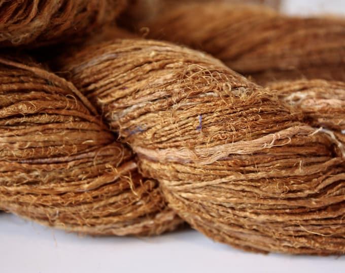 NEW***Handspun Recycled Mulberry Silk - Rust