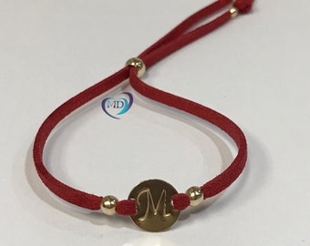 """The """"Initial"""" Wrap Bracelet/perfect to wear everyday/suede and 14K Gold Filled or 925 Sterling Silver"""