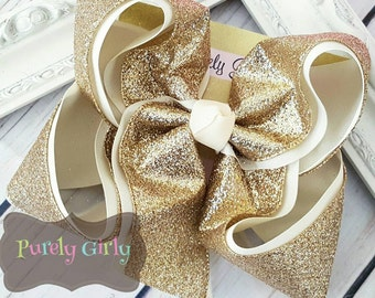Glitter Hairbow Choose Color Large Glitter Bow Exlarge Custom Colors