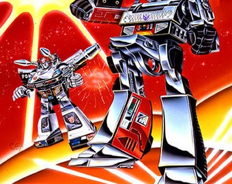 "Transformer Scene 2 - 8.5"" X 11"" , By Original Artist Mark Watts, this print comes signed by Mark Watts"