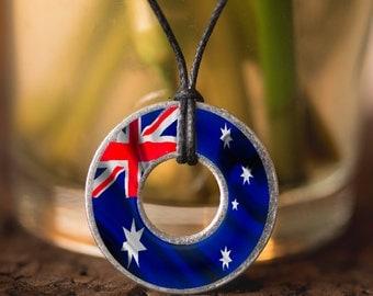 Australian Flag Washer Necklace