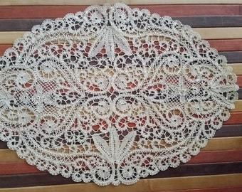 Cantù lace doily oval//