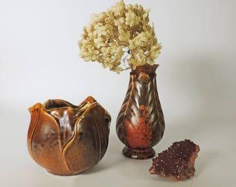 Stangl Pottery Tulip Vase Shape 1878/S and Stangl Bud Vase Shape 2069