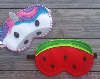 Cute Eye Mask - Watermelon - Sleep Mask - Night Mask - Blindfold - Cute - Mask - Gift for Her - Travel Mask - Adult - Fruit - Sleep