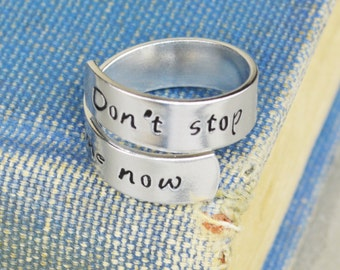 Don't Stop Me Now Wrap Ring