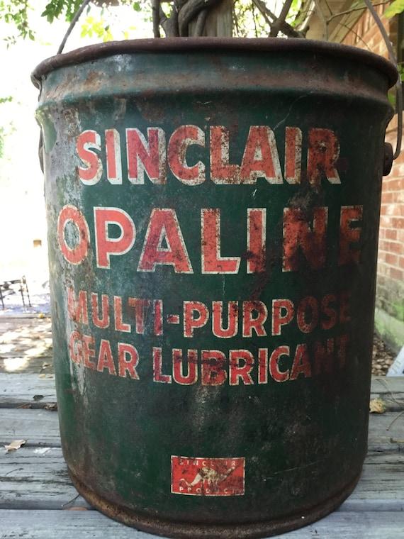 Vintage Sinclair Lubricant Bucket