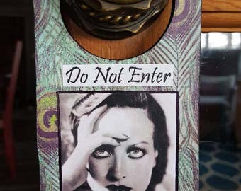 Decorative Doorknob Hanger, Joan Crawford, Hollywood Decor