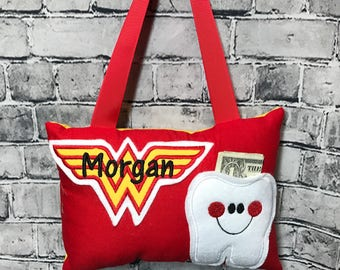Tooth Fairy Pillow Wonder Woman Yellow Toothfairy