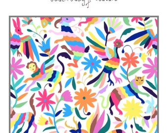 Mexican Otomi Baby Bedding - Baby crib or toddler bed, blanket, boppy, sheet, bumpers, pillow, changing pad, colorful, folklorico