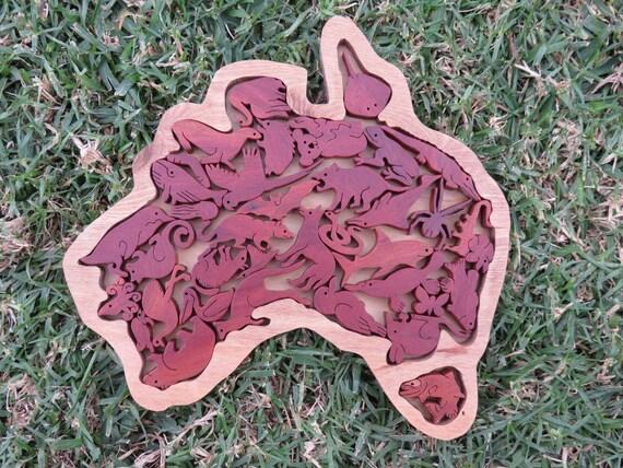 Australia Wood Puzzle Game