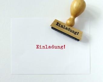 Stempel Einladung! Schreibmaschine echt getippt Typo retro Pary Hochzeit Geburtstag