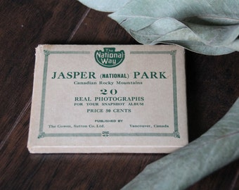 Vintage Jasper National Park Photo Set