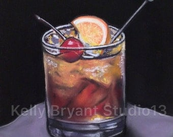 Old Fashioned, Original Pastel Painting