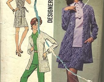 Simplicity 8870   Misses Overblouse,Mini Skirt, Pants, Jacket   Size16  Vntg