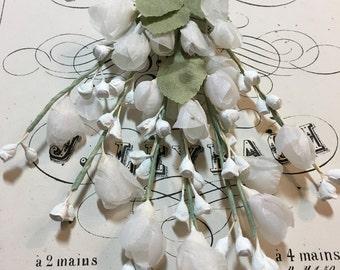 Vintage millinery white flower spray.