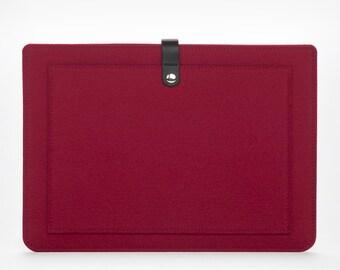 New MacBook Pro 15 – MacBook Sleeve – MacBook Cover – MacBook Felt Sleeve – Leather Cover – New MacBook Pro 15 Case