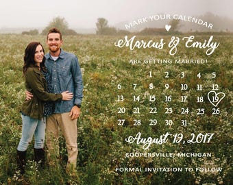 4x6 - Calendar Photo Save the Date