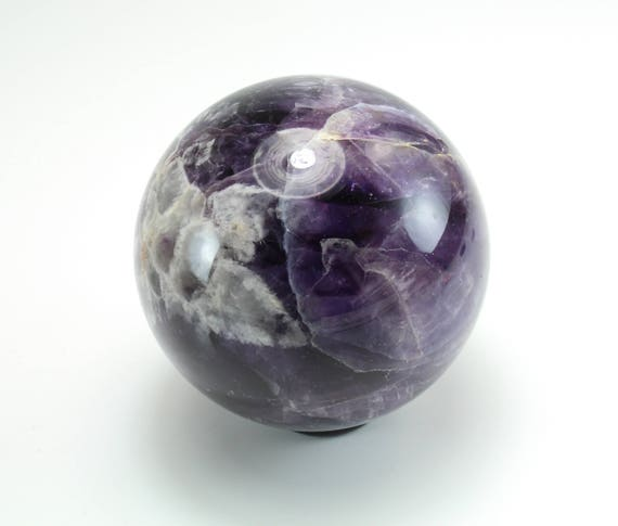Chevron Amethyst Sphere, Polished, M-2002
