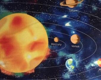 Solar system fabric | Etsy