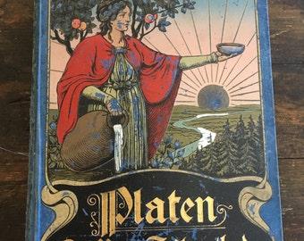 Antique German Medical Book / Supplement du Platen Die Nueu Heilmethode by M. Platen / Science / Botany / Illustrated