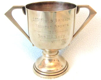 Impressive Vintage Collectible Trophy Cup, Military Interest, Art Deco Cup, 25th Field Brigade Mounted Sports, Inter War, Historical Trophy