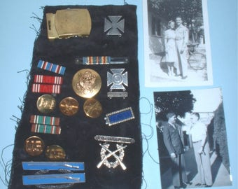 US Army WWII misc. ribbons, devices, awards