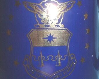 USAF US Air Force Academy purple/blue coffee mug