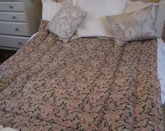 Vintage Quilt Eiderdown - Double Size - Paisley Pinks