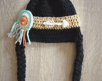 Baby Native American Indian hat  - Baby Indian hair headdress - you choose the size