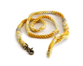 6 FT Golden Yellow Marbled Rope Dog Leash