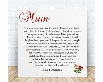 Personalised Mum Poem Plaque