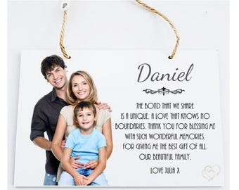Husband Personalised Wooden Photo Poem Plaque