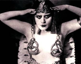 Theda Bara, Cleopatra, 1917, Risque, Greeting Card NCC521143