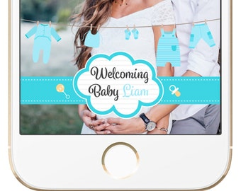 Boy Baby Shower Snapchat Geofilter - FULLY CUSTOMIZABLE
