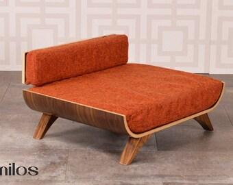 Milos mid century modern dog bed