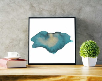 Colorful Home Decor Wall Art. Teal and Gold Home Decor Wall Art. Home Decor Wall Art in Teal. Green and Gold Home Decor
