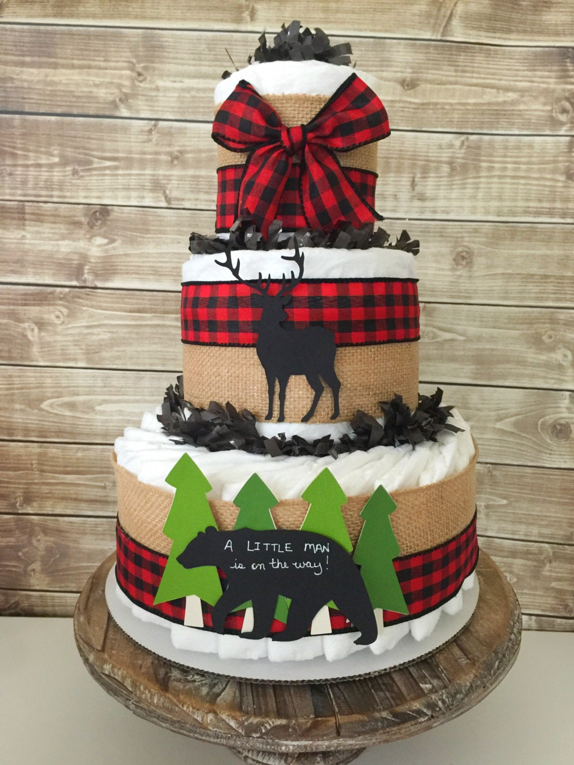 Plaid Birthday Cake